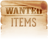 Wanted items parchment